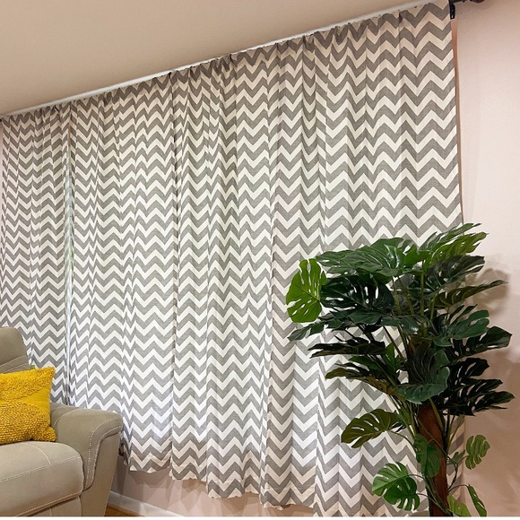 Urban Outfitters Other - Urban Outfitters Gray Chevron Curtains (2)